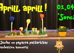 """Skolas un pagasta pašdarbības koncerts """"Aprill, aprill!"""" 01.04.2016."""