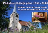 Baznīcu nakts – arī Kabilē 10.jūnijā