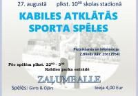 Kabiles atklātās sporta spēles 27.augustā