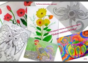 Kabiles bērnu zīmējumi Turlavas bibliotēkā