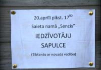 Iedzīvotāju sapulce 20.aprīlī