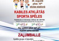 Sporta spēles skolas stadionā 26.augustā