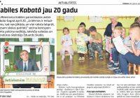 """Skolas avīzei """"Kabata"""" – 20 gadu"""