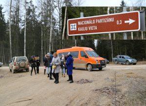 Piemin nacionālos partizānus pie Āpuzniekiem 13.01.2018.