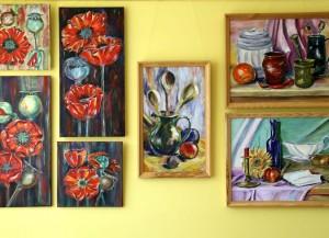 D.Grundmanes gleznu izstāde Kabiles bibliotēkā