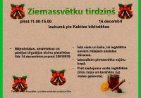 Ziemassvētku tirdziņš 16.decembrī