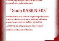 """Balsosim par """"GADA KABILNIEKU""""!"""